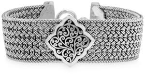 Lois Hill Filigree Plate Woven Bracelet in Sterling Silver