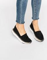 Calvin Klein Jeans Genna CK Black Logo Espadrilles