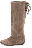 Naughty Monkey Womens Arctic Solstice Leather Almond Toe Mid-calf Cowboy Boots.