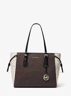 Michael Kors Voyager Medium Color-Block Logo Tote Bag