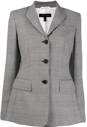 Escada Tailored Check Print Blazer