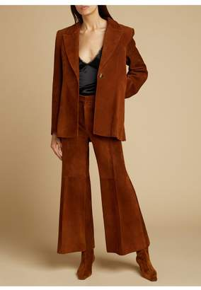 KHAITE The Andrea Pant In Cocoa Suede