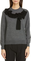 Comme des Garcons Bow Taping Wool Sweater
