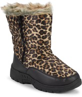 Capelli New York Girl's Faux Fur-Trim Leopard Quilted Boots