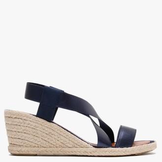 Daniel Coopster Blue Metallic Elasticated Strap Wedge Sandals