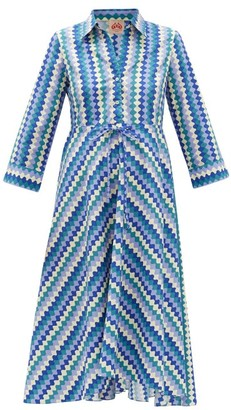 Le Sirenuse Positano Le Sirenuse, Positano - Lucy Printed Cotton Shirt Dress - Blue Print