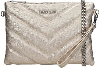 Marc Ellis Suami Clutch In Gold Leather