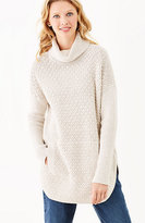 J. Jill Textured Turtleneck Poncho Sweater