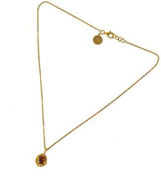 Softdream By Lauragalasso Garnet Retro Pendant Necklace