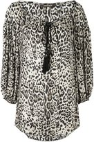 Roberto Cavalli leopard print blouse - women - Silk - 44