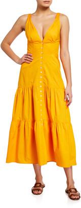 A.L.C. Jordyn Tiered Midi Dress
