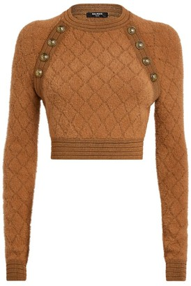 Balmain Knitted Crop Top