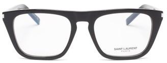 Saint Laurent Flat-top Square Acetate Glasses - Clear