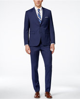 Perry Ellis Portfolio Men's Medium Blue Mini Stripe Extra-Slim Fit Suit