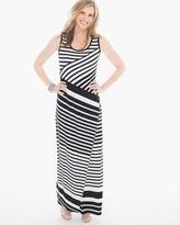 Chico's Diagonal Striped Maxi Dress