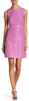 Tahari Polka Dot Fit & Flare Dress (Petite)