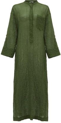 Three Graces London August Cotton-blend Voile Kaftan - Green