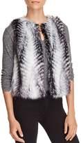 T Tahari Ramona Faux Fur Vest