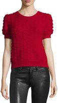 Alice + Olivia Blair Puff-Sleeve Bobble Sweater