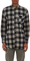 NSF Men's Raw-Edge Buffalo-Checked Cotton Shirt