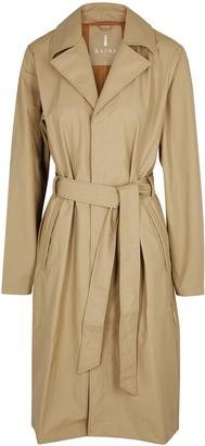 Rains Overcoat navy rubberised raincoat