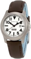 Momentum Women's 1M-SP01W12C Atlas White Dial Brown Touch Leather Watch