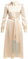 Hillier Bartley Silk-satin Midi Dress - Womens - Ivory