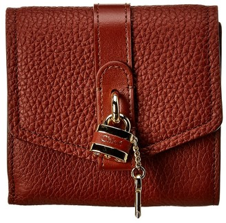 Chloé Aby Leather Trifold Wallet