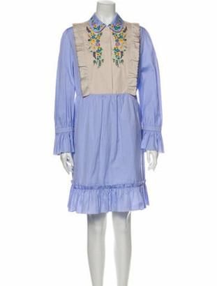 Gucci Colorblock Pattern Mini Dress w/ Tags Blue
