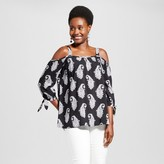 U-knit Women's Paisley Printed Off the Shoulder Knit Blouse