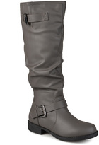 Journee Collection Gray Stormy Wide-Calf Boot