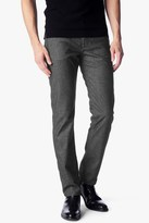 7 For All Mankind Slimmy Slim With Clean Pocket In Charcoal Brushed Melange