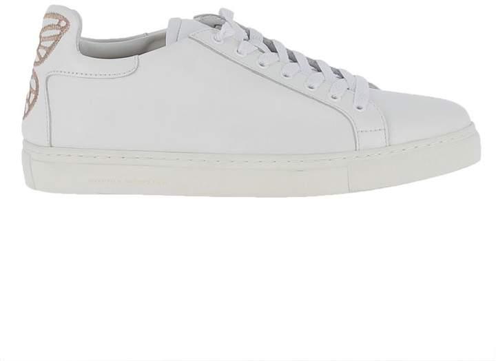 Sophia Webster White Leather Bibi Low Top Sneakers