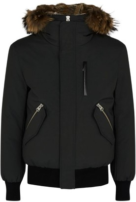 Mackage Fur-Trim Hooded Bomber Jacket