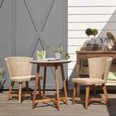 Smith & Hawken 3pc Wood Patio Bistro Set - Tan