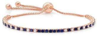 graziela 18kt rose gold diamond sapphire Bolo bracelet