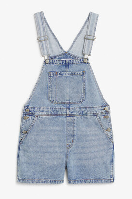 Monki Denim dungaree shorts