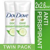Dove Advanced Care Antiperspirant Deodorant Cool Essentials, Twin Pack