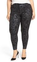 Melissa McCarthy Plus Size Women's Stretch Foil Print Pencil Jeans