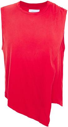 Current/Elliott Asymmetric Cotton-jersey Top