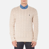 Polo Ralph Lauren Men's Long Sleeve Crew Neck Knitted Jumper Oatmeal Heather