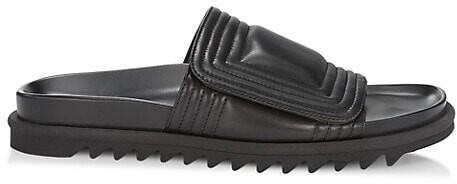 Dries Van Noten Leather Grip-Tape Sandals