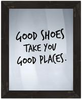 """PTM Images Good Shoes Framed Silkscreen Glass Wall Art - 21"""" x 17"""""""