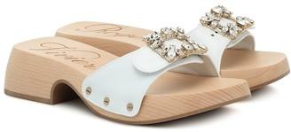 Roger Vivier Viv' Clogs leather sandals