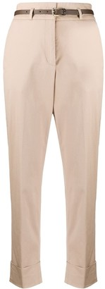 Peserico High-Rise Cropped Chino Trousers