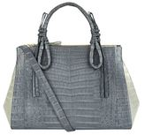 Nancy Gonzalez Large Crocodile Double-Zip Tote Bag