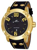 Adee Kaye Men's AK7281-MG Analog Display Japanese Quartz Black Watch