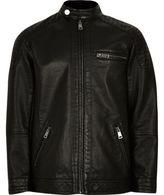 River Island Boys black racer jacket