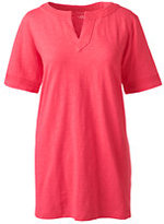 Classic Women's Petite Starfish Embroidered Tunic Top-Cameo Blush