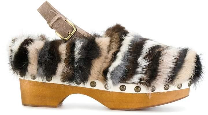 Mou studded clog sandals